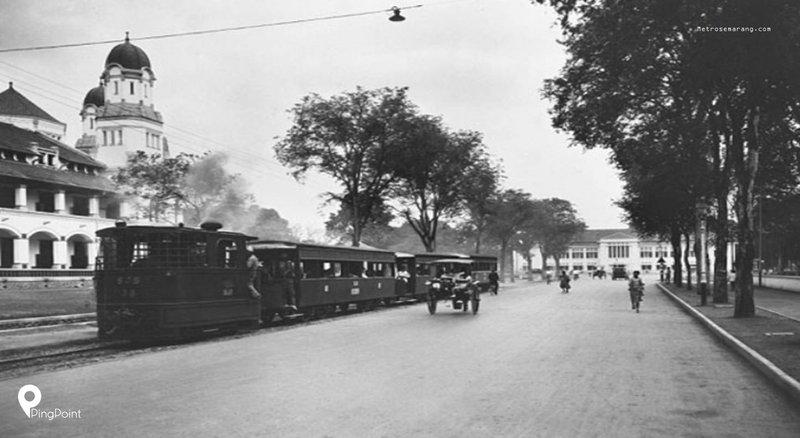 Zoominar Sejarah Trem Kota Semarang dan Lokomotif Uap SJS